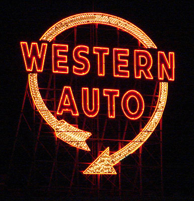 Western Auto sign, Kansas City