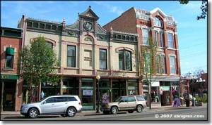 The Historic Union Street, Pueblo, Colorado, the site of Shadow's reading.